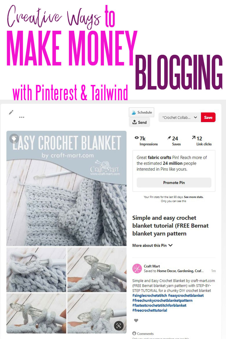 how to make passive income blogging with Pinterest and Tailwind