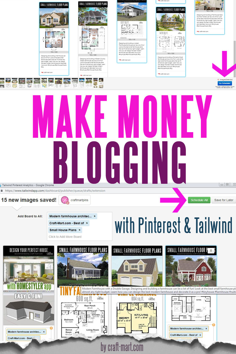 how to make money blogging with Pinterest and Tailwind
