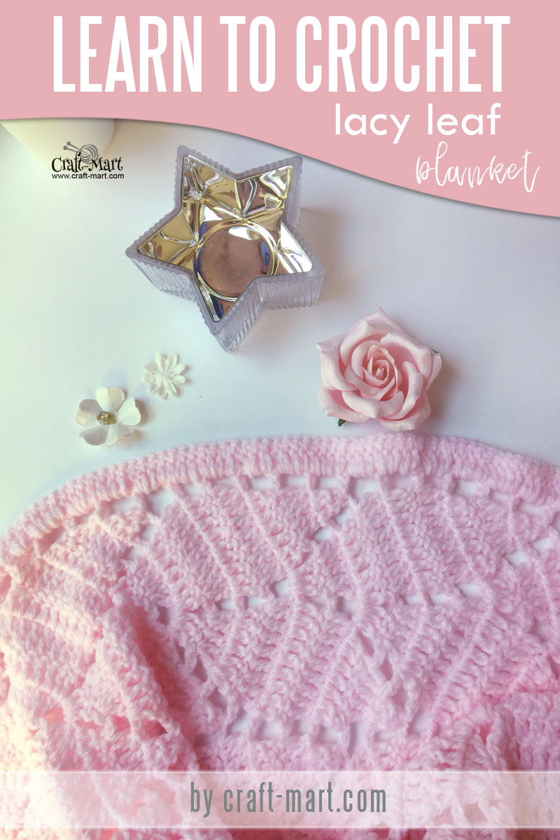 One of the prettiest crochet baby blanket patterns - learn one of the easiest and fast crochet baby blanket patterns for beginners! Timeless heirloom Lacy Leaves crochet pattern is perfect for diy baby blanket even if you are just learning how to crochet. Double crochet baby blanket uses variations of the same basic crochet stitches which are easy to learn and remember #crochetbabyblanketpatterns #diybabyblanket #doublecrochetbabyblanket #freecrochetbabyblanketpatterns
