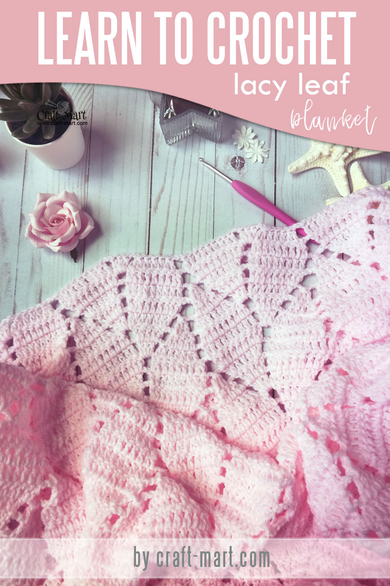 One of the prettiest crochet baby blanket patterns - learn one of the easiest and fast crochet baby blanket patterns for beginners! Timeless heirloom Lacy Leaves crochet pattern is perfect for diy baby blanket even if you are just learning how to crochet. This double crochet baby blanket uses variations of the same basic crochet stitches which are easy to learn and remember #crochetbabyblanketpatterns #diybabyblanket #doublecrochetbabyblanket #freecrochetbabyblanketpatterns
