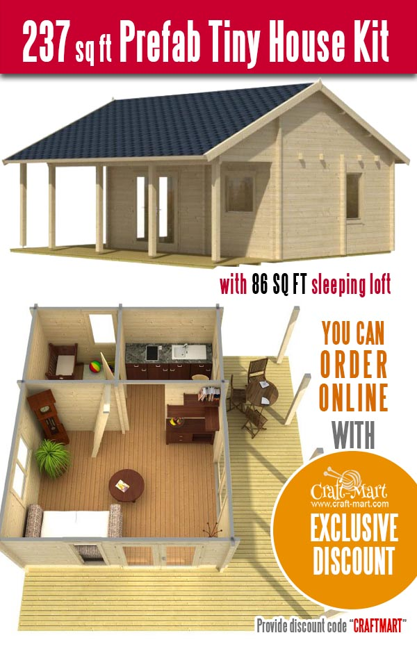 prefab log cabin kit for fast DIY assembly