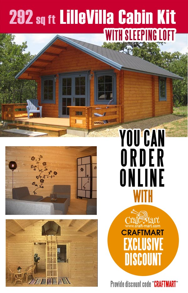 Tiny log Cabin Lillevilla is one of the most popular prefab tiny homes that you can order online