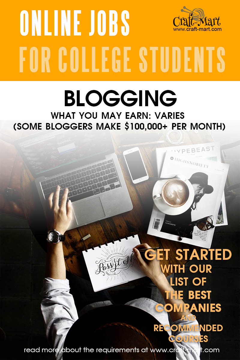Blogging as a job for college students
