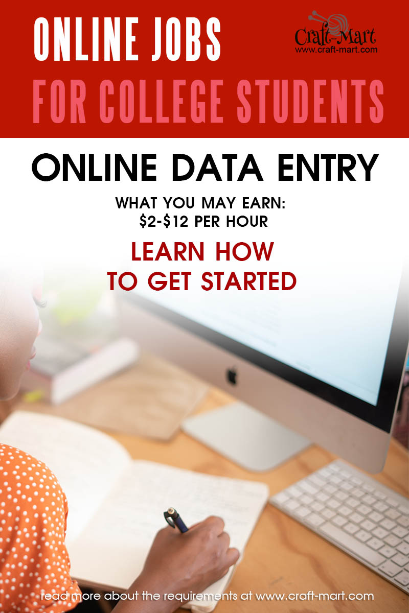 Data Entry jobs for college students