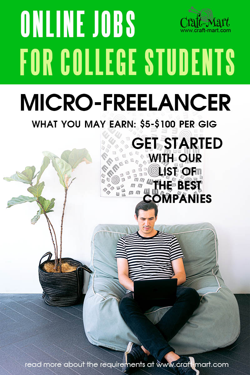 Fiverr Micro-Freelancer jobs for college students