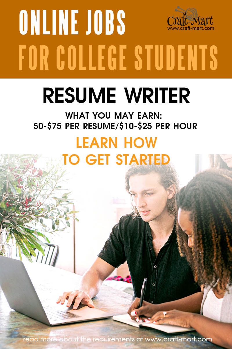 Resume Writer online jobs for college students