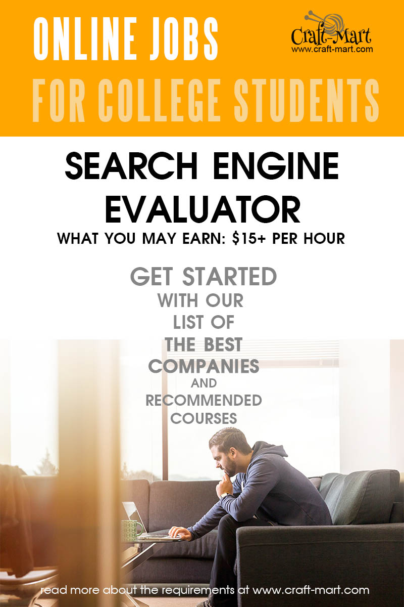 Search Engine Evaluator online jobs for students to earn money with no experience
