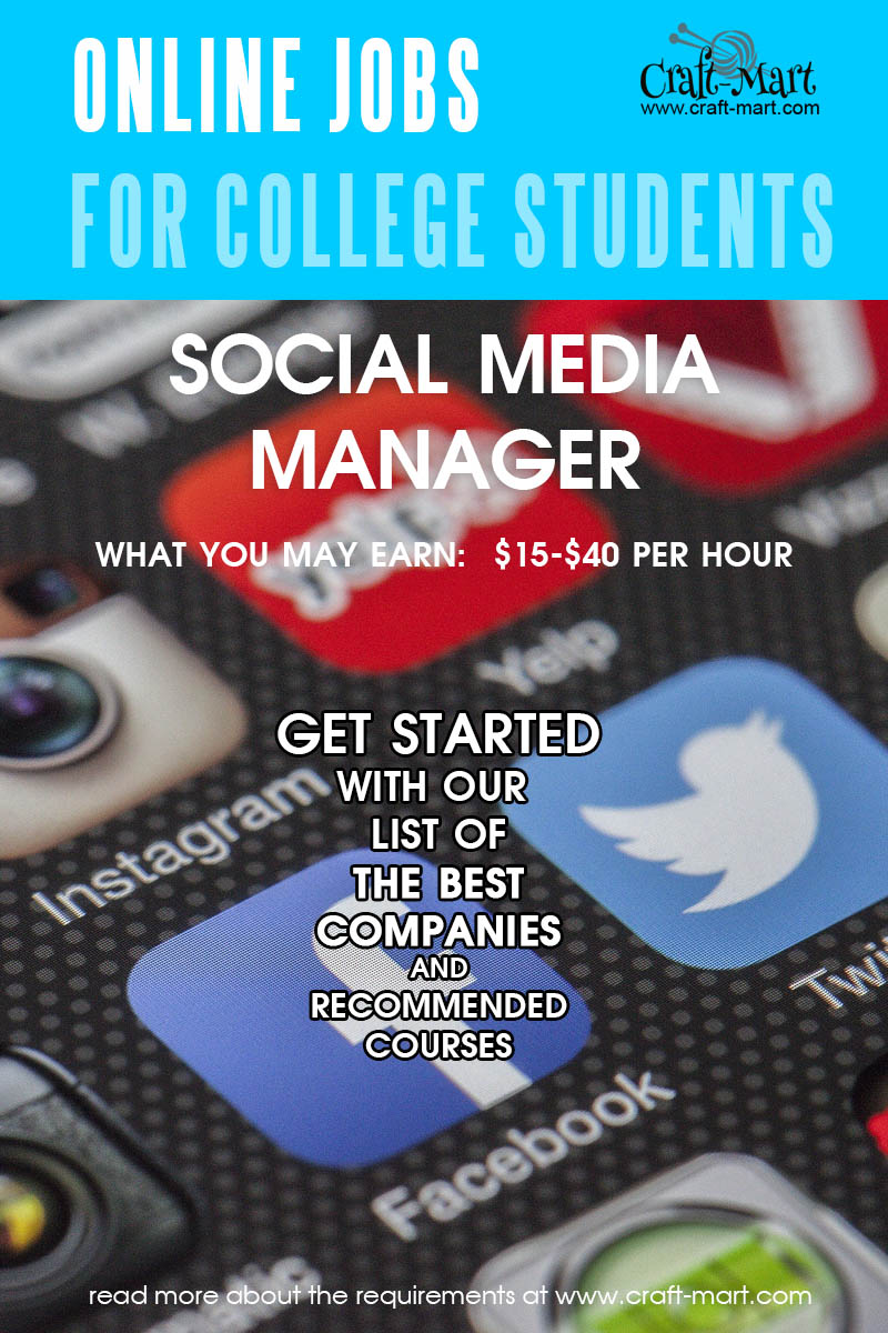 Social Media Manager online jobs for college students