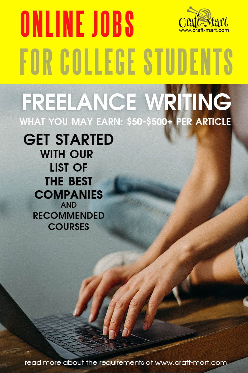 Freelance Writing online jobs for college students