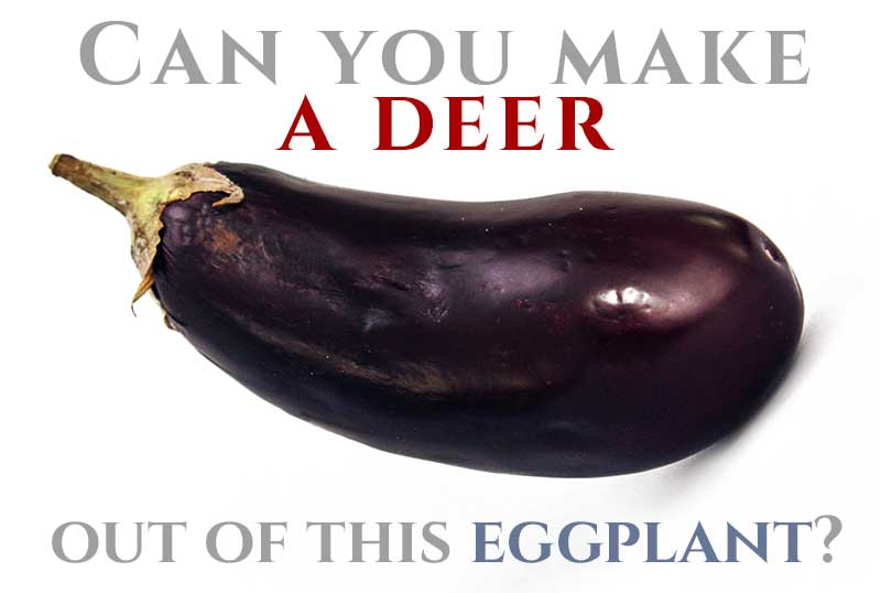 outline of deer's body - eggplant
