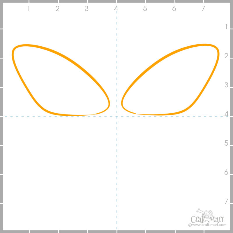 How to draw butterfly forewings