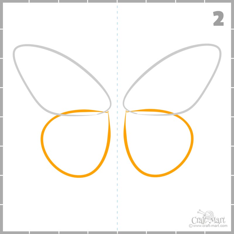How to draw butterfly hindwings