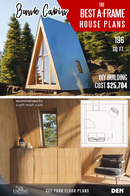 tiny A-frame cabin plans