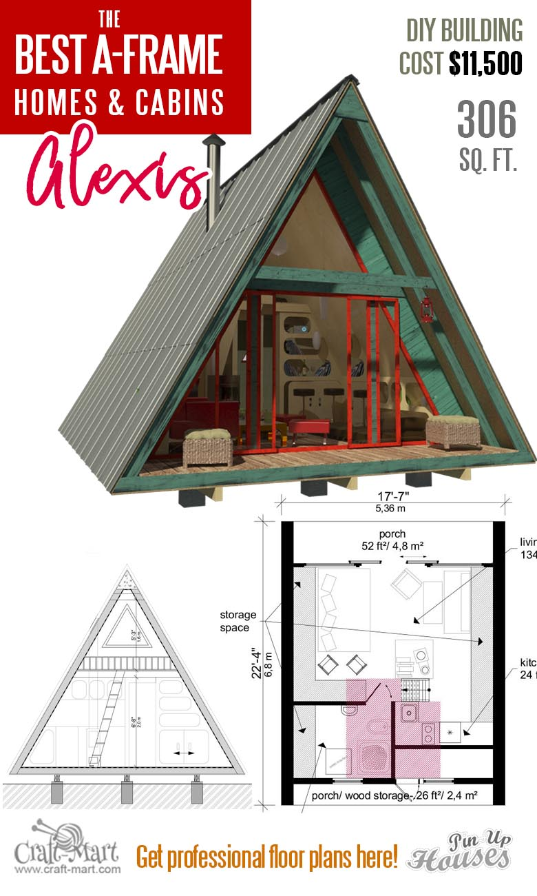 a frame tiny house plans with loft Alexis