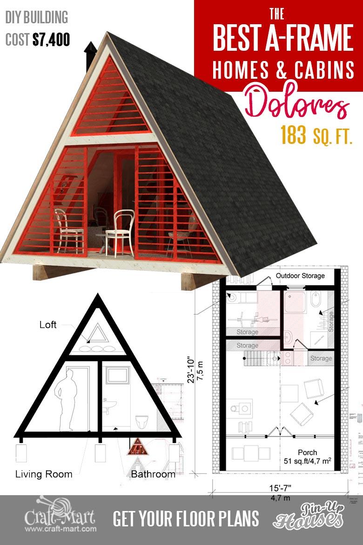 bestseller a frame tiny cabin plans Dolores