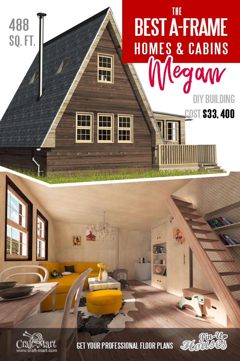 "A-Frame tiny House Plans ""Megan"""