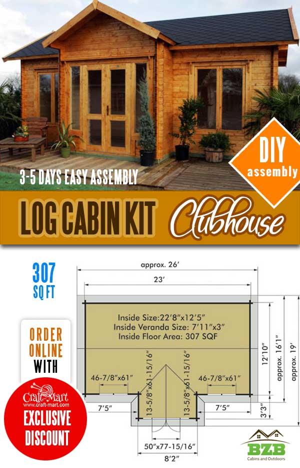 quality tiny prefab log cabin kits
