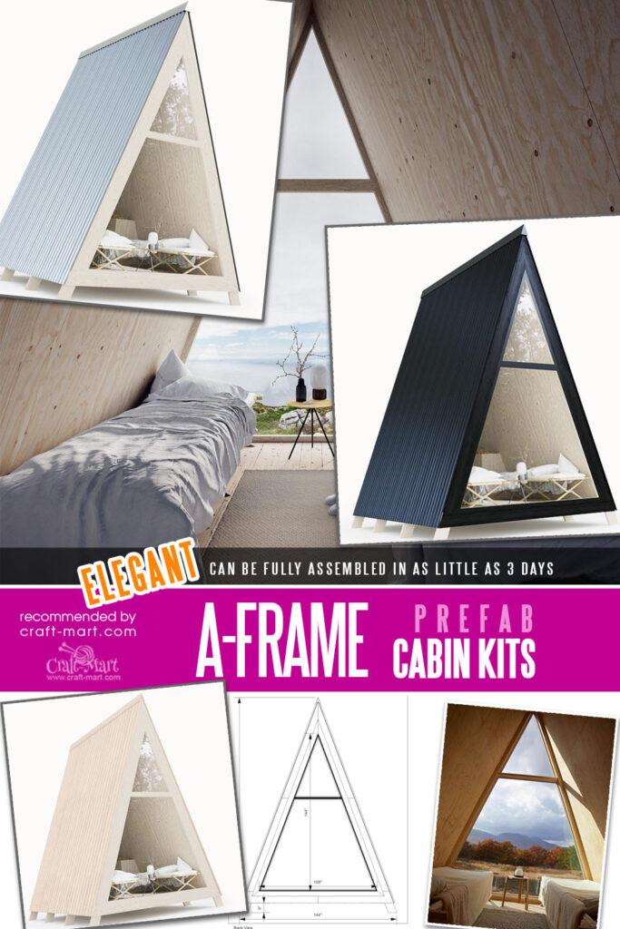 A-frame cabin kits