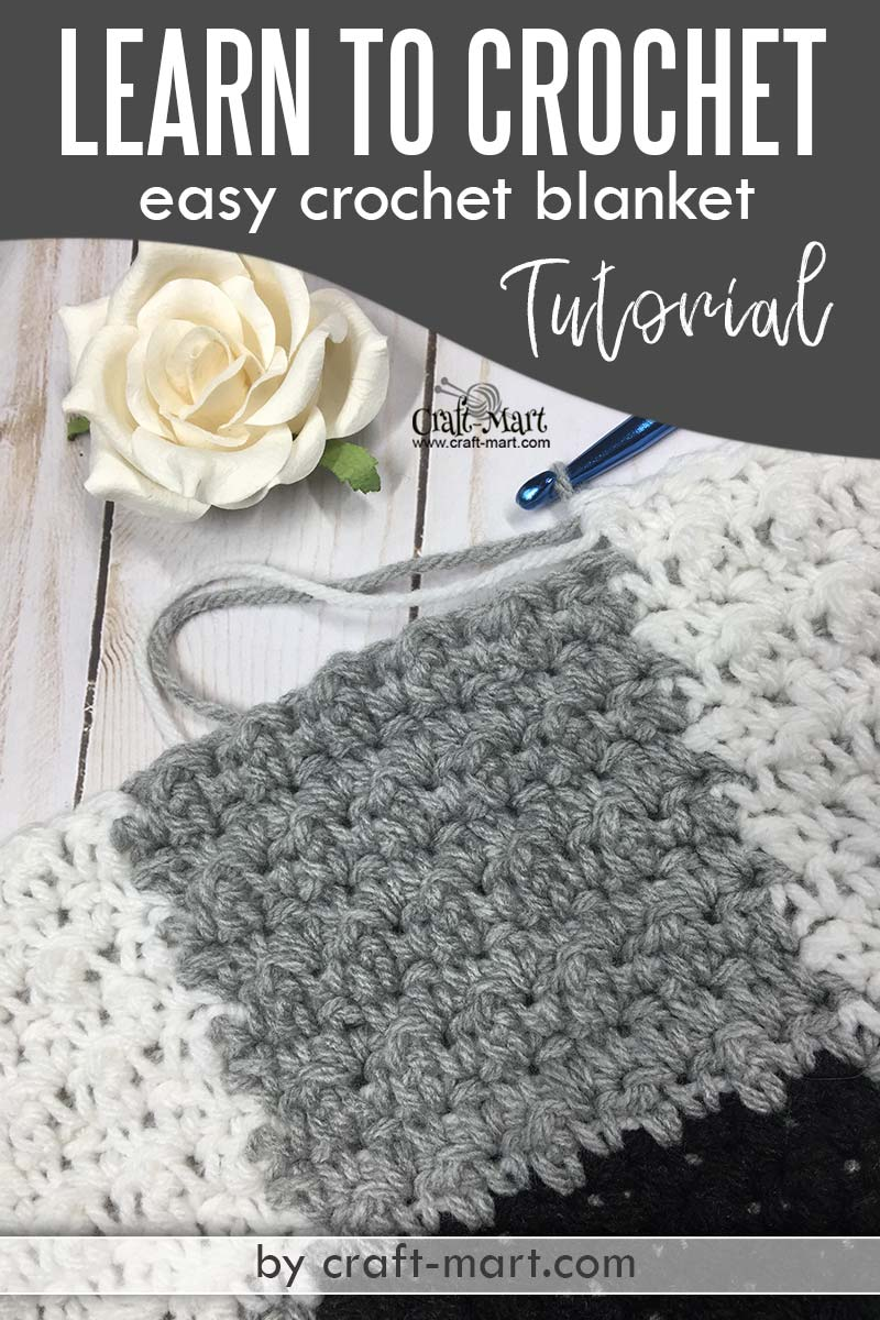 Learn to Crochet Easy Blanket (farmhouse style)