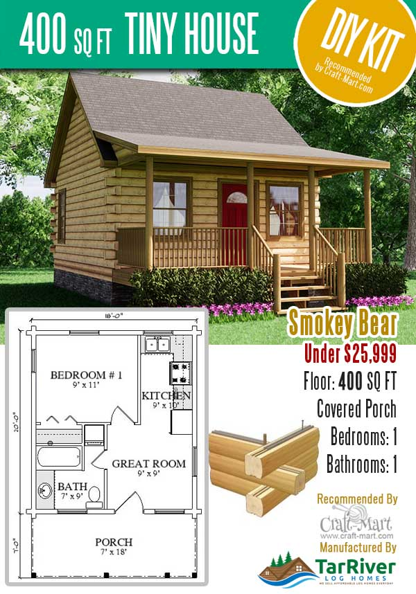 Smokey Bear tiny house kit