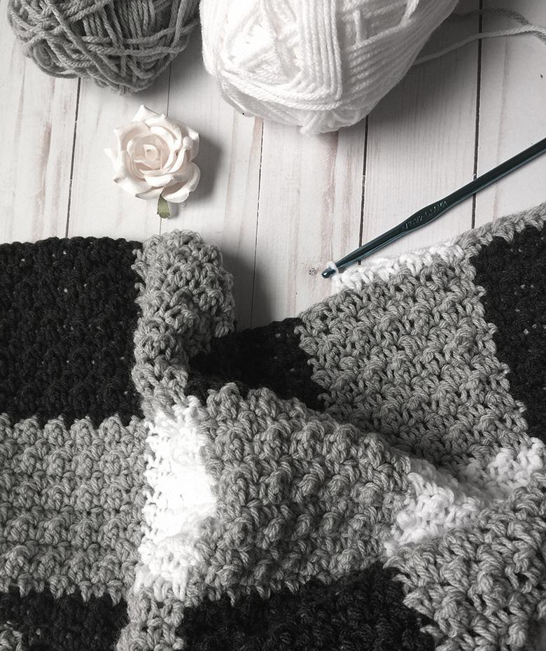 Learn to Crochet Easy Blanket (farmhouse style)