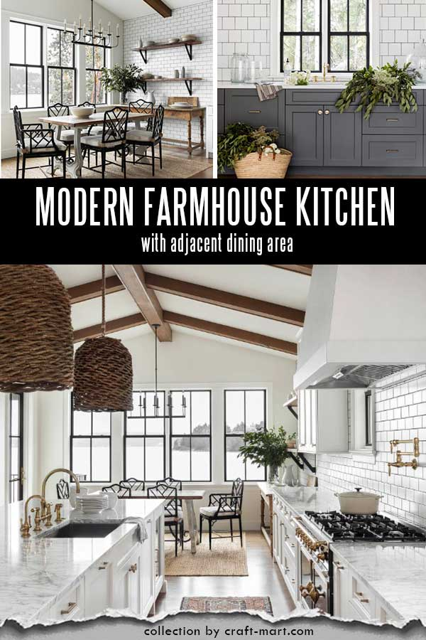 Modern farmhouse kitchen in Seattle
