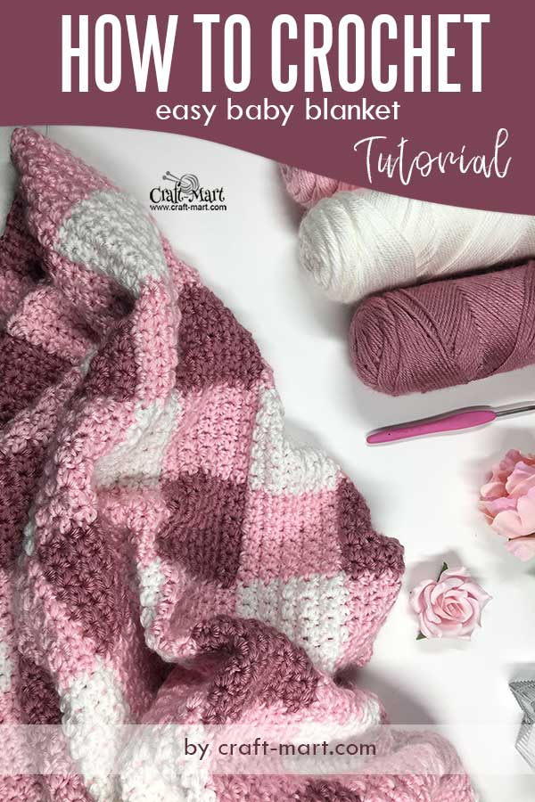 free crochet baby blanket pattern - How to crochet a baby blanket tutorial