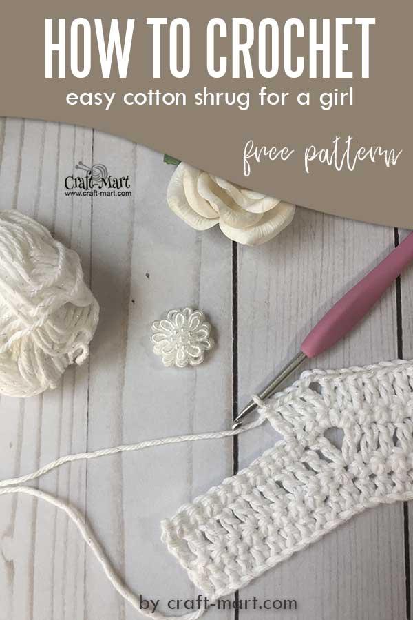Easy pattern for crochet shrug