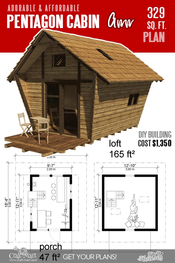 Tiny Pentagon unique cabin plans
