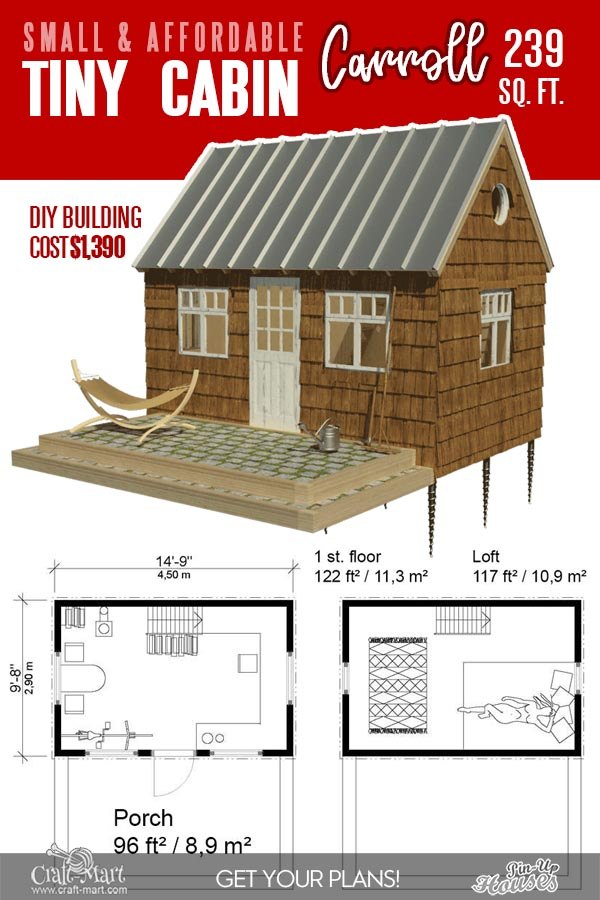 small wood cabin floor plans