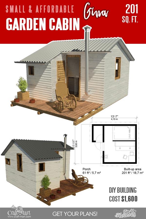 Garden Cabin floor plans