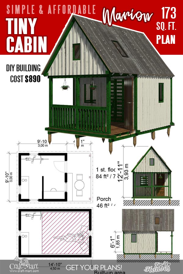 small cabin floor plans for Camping