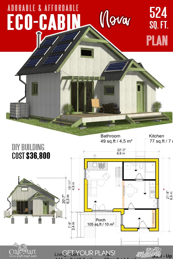 Small Cabin Floor Plans with cost to build