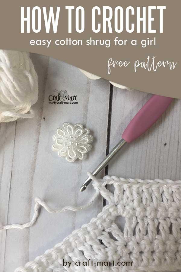 crochet shrug pattern for a girl