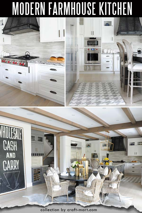 White and bright farmhouse kitchen
