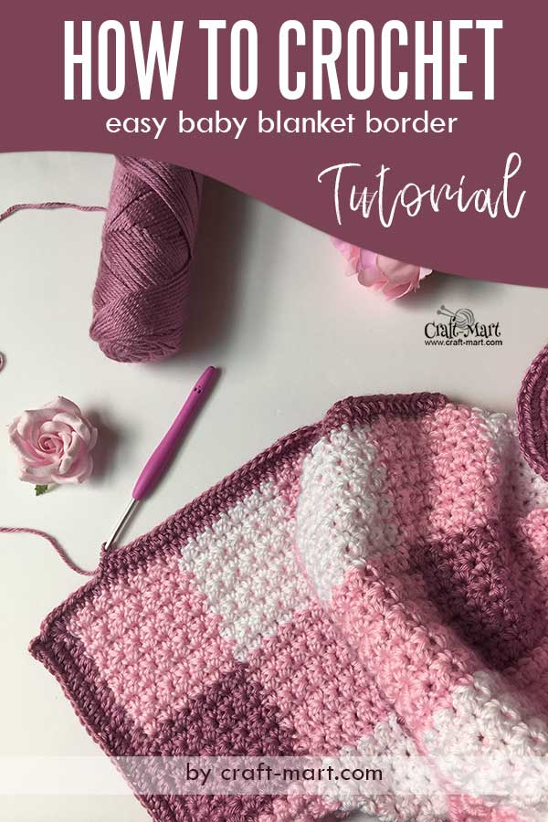 How to crochet a baby blanket and add crochet baby blanket edging