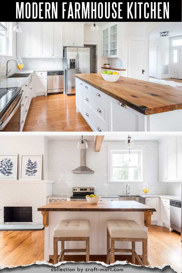 Classic small farmhouse kitchen with warm wooden accents