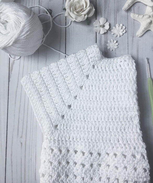 How to crochet a shrug for a girl - free pattern
