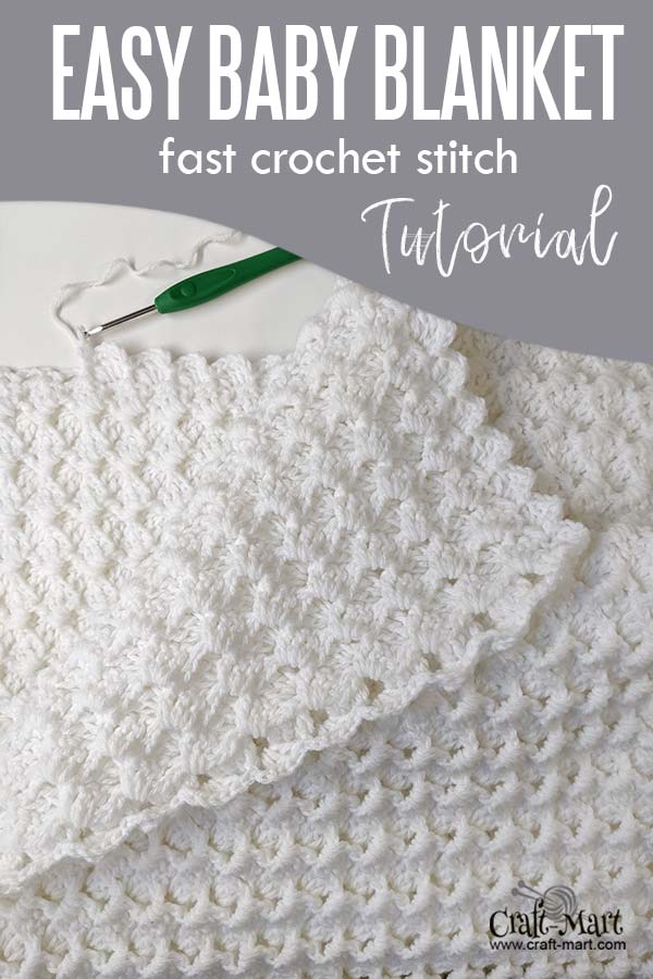 Easy crochet baby blanket - free pattern for beginners using Bernat Baby Sport Yarn