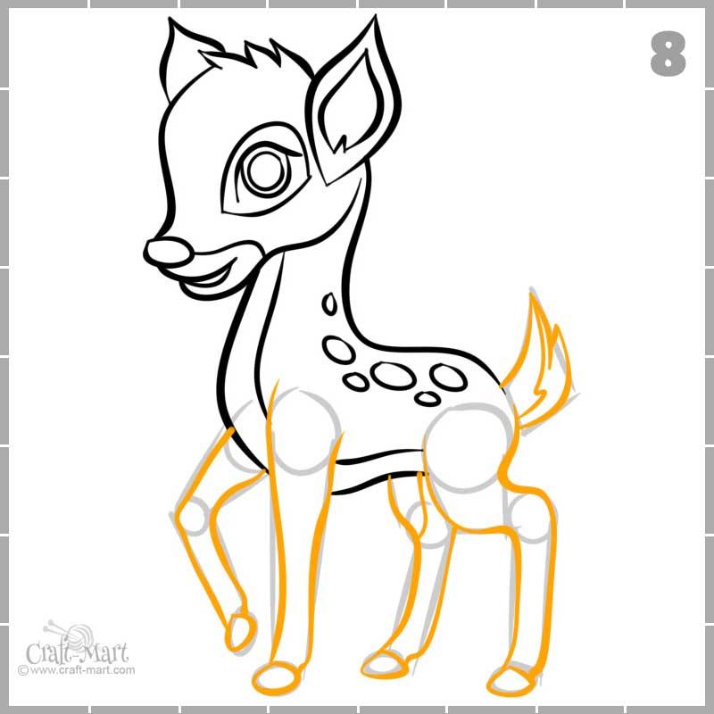 detailing a baby deer legs