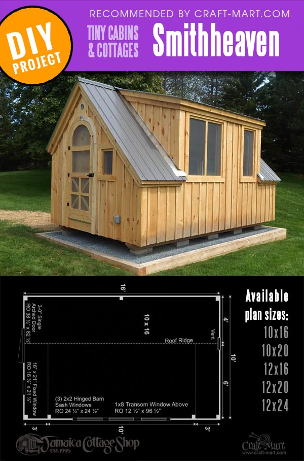 prefab cabin kit Smithheaven in 5 different sizes