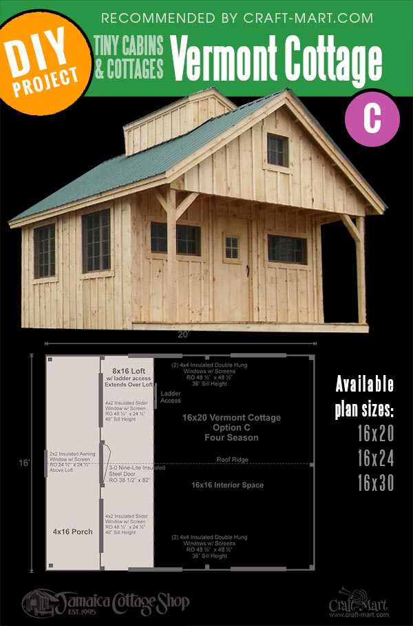 cute Vermont C cottage for sale in3 size variations