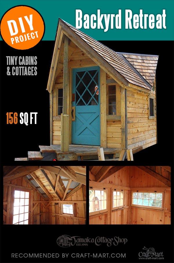 unique cabin kit for backyard
