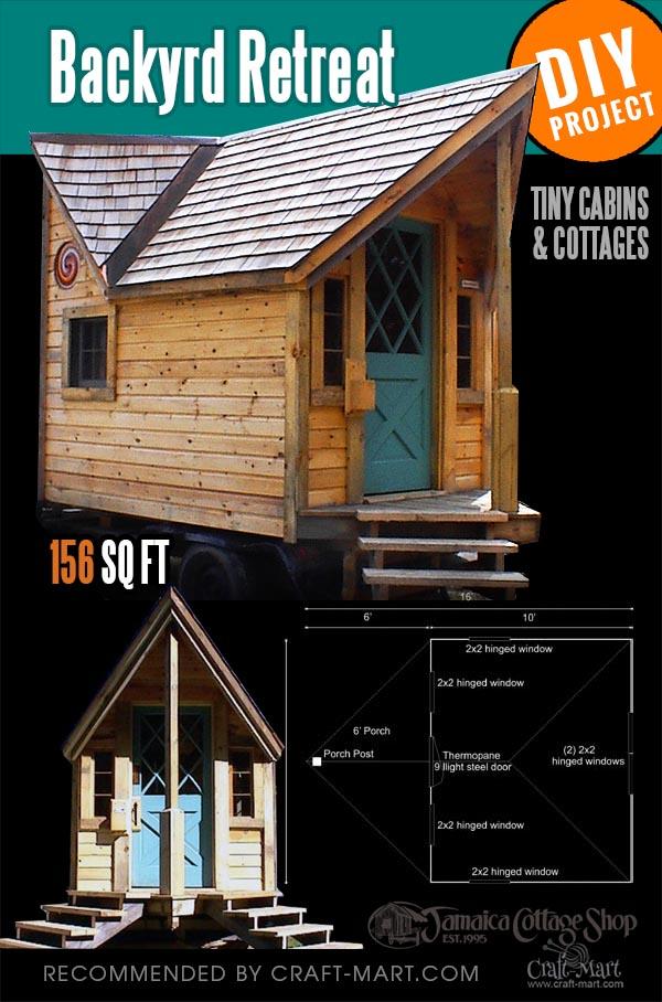 tiny cabin kit for a garden