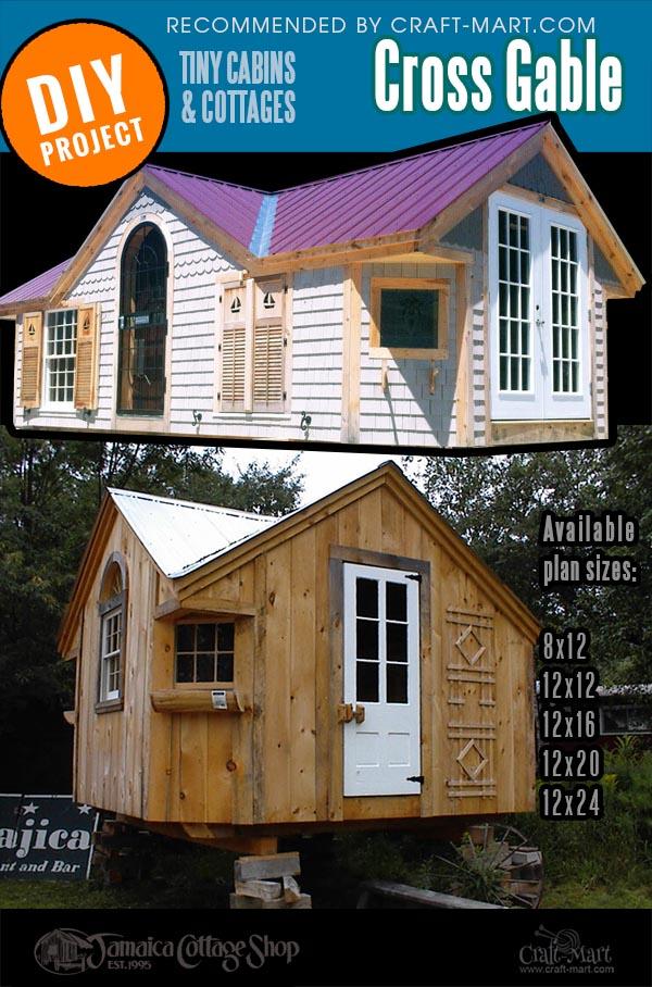Cross gable prefab cabin kits variations