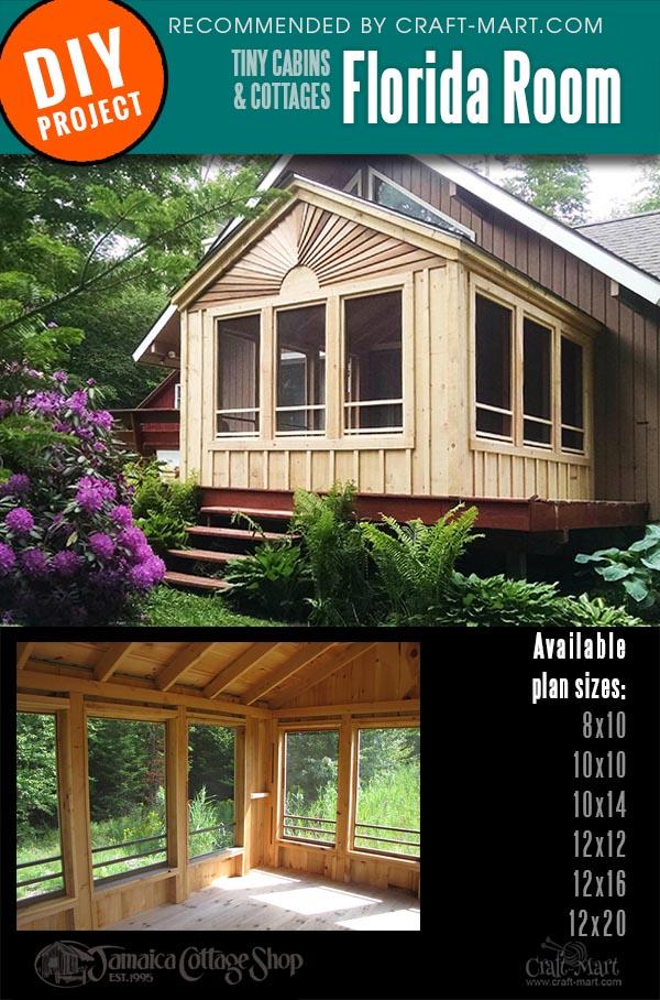 diy cabin kits with large windows