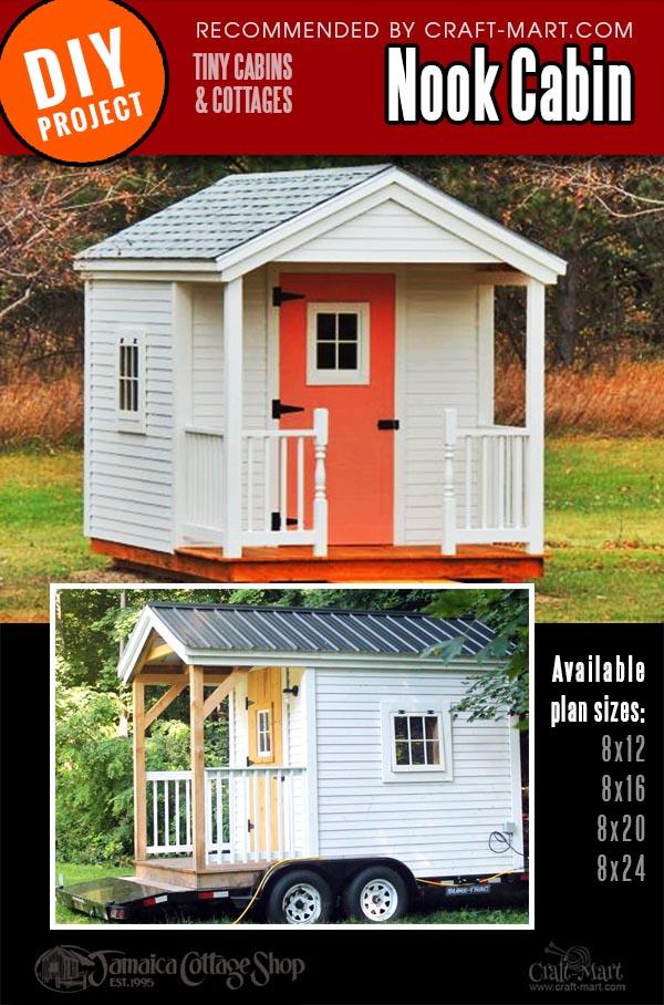 tiny cabin kit with a custom porch