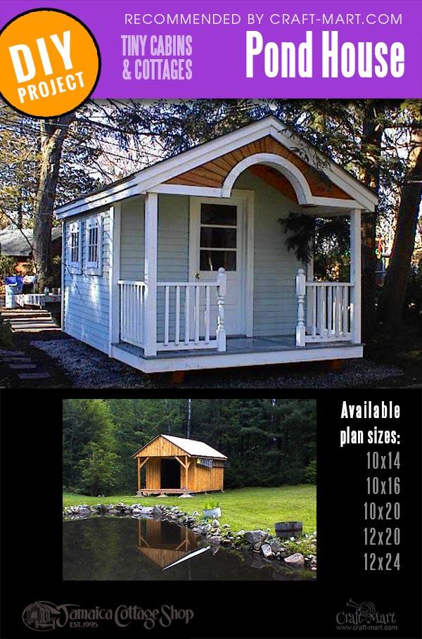 pond house prefab cabin kit for sale