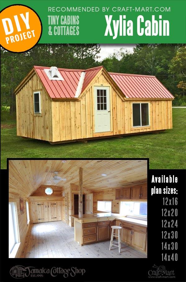 pre-built cabin kits for building your own workshops