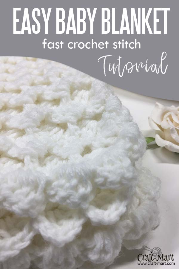 Easy crochet baby blanket - crochet baby blanket edging